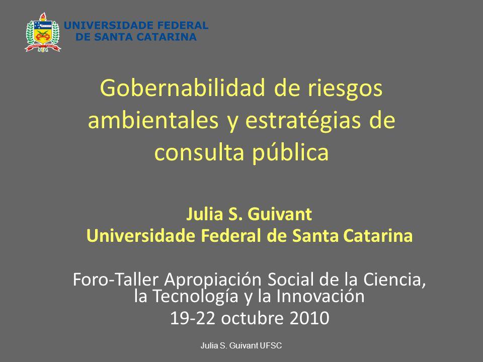 Gobernabilidad de riesgos ambientales y estratégias de consulta pública Julia S.
