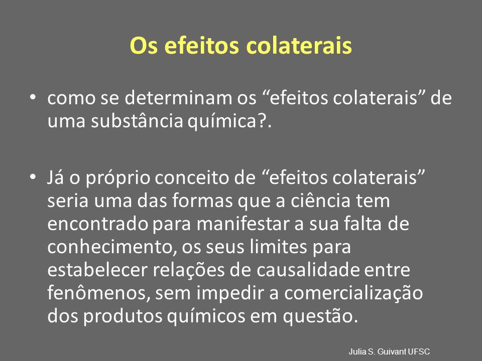 Os efeitos colaterais como se determinam os efeitos colaterais de uma substância química .