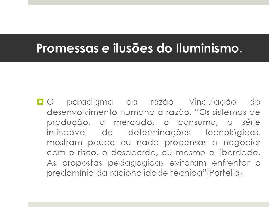 Promessas e ilusões do Iluminismo.  O paradigma da razão.
