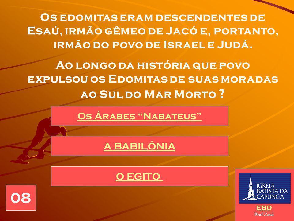 Edom é o povo contra quem YAHU se volta através do profeta Obadias.