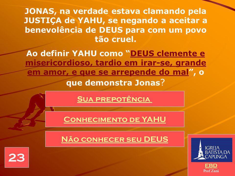 Povo de conhecida perversidade para com seus inimigos, DEUS YAHU envia Jonas para fazê-los mais clementes, ameaçando-os com a destruição.
