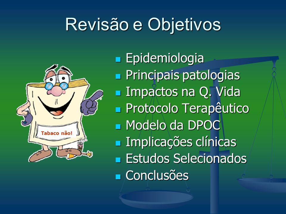 Revisão e Objetivos Epidemiologia Epidemiologia Principais patologias Principais patologias Impactos na Q. Vida Impactos na Q. Vida Protocolo Terapêut