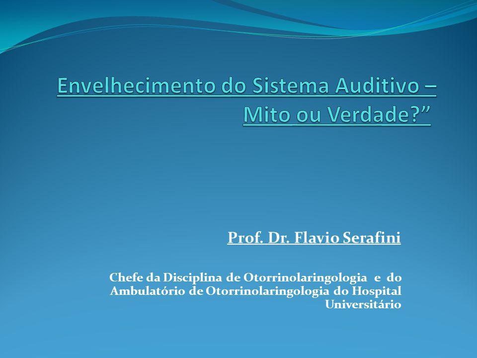 Prof. Dr. Flavio Serafini Chefe da Disciplina de Otorrinolaringologia e do Ambulatório de Otorrinolaringologia do Hospital Universitário