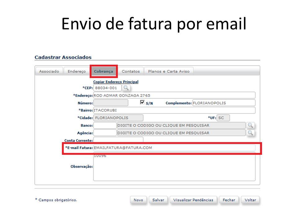 Envio de fatura por email