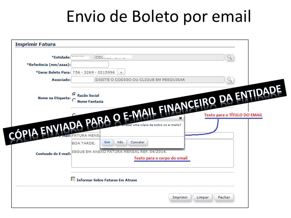 Envio de Boleto por email