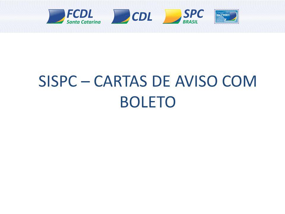 SISPC – CARTAS DE AVISO COM BOLETO