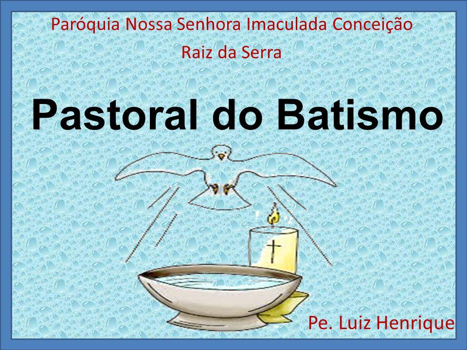 Pastoral do Batismo Pe. Luiz Henrique Paróquia Nossa Senhora Imaculada Conceição Raiz da Serra