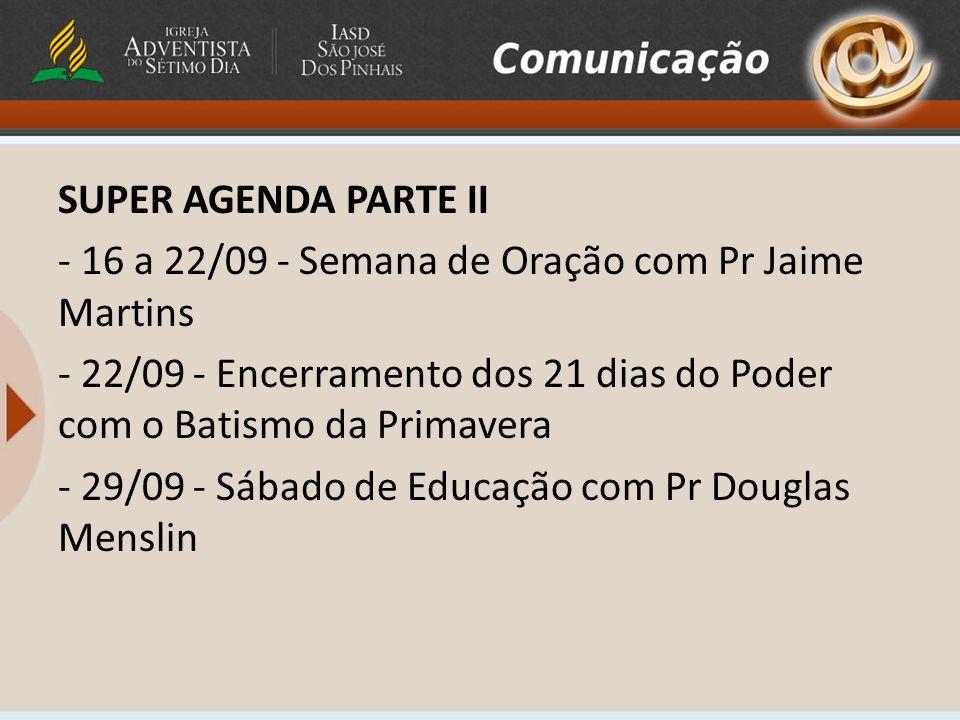 CURSO DE CULINÁRIA DIA 16/09 - 9:30 – 12:00 ASSOCIAÇÃO SUL PARANAENSE SEN.