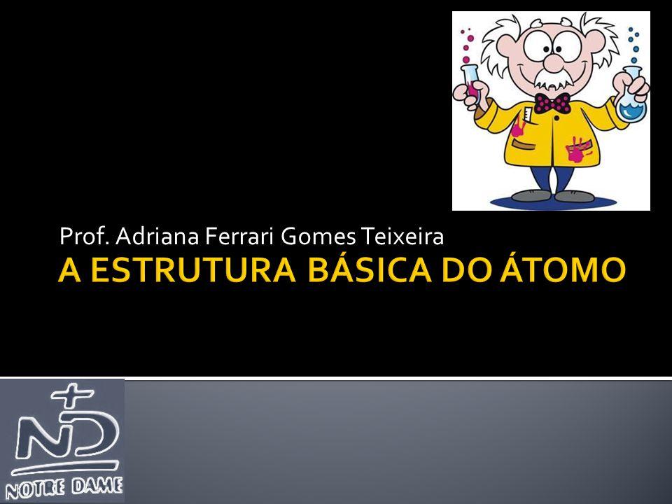  Toda matéria é constituída por partículas muito pequenas, arranjadas de diversas maneiras, denominada ÁTOMO.