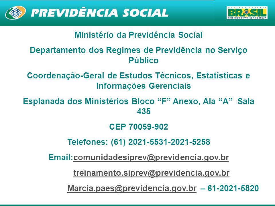15 Ministério da Previdência Social Departamento dos Regimes de Previdência no Serviço Público Coordenação-Geral de Estudos Técnicos, Estatísticas e I