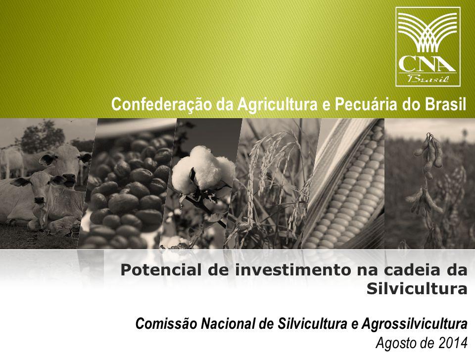 Confederação da Agricultura e Pecuária do Brasil Comissão Nacional de Silvicultura e Agrossilvicultura Agosto de 2014 Potencial de investimento na cadeia da Silvicultura