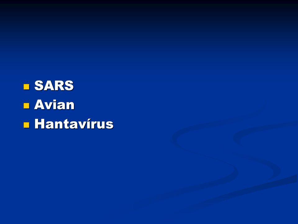 SARS SARS Avian Avian Hantavírus Hantavírus