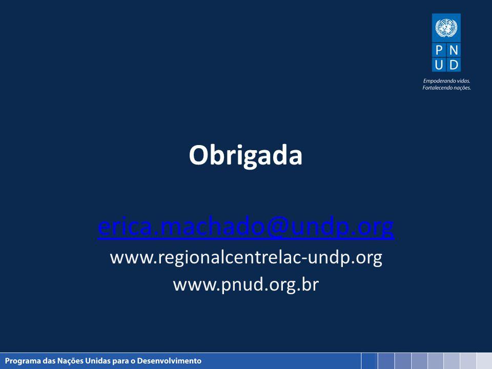 Obrigada erica.machado@undp.org www.regionalcentrelac-undp.org www.pnud.org.br