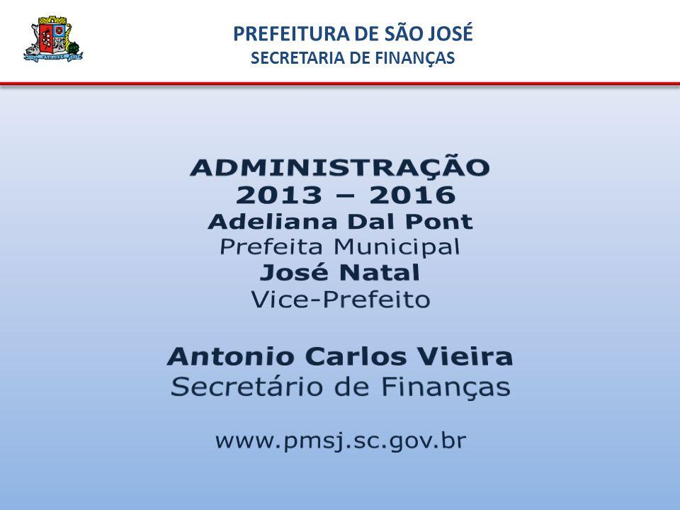 PREFEITURA DE SÃO JOSÉ SECRETARIA DE FINANÇAS