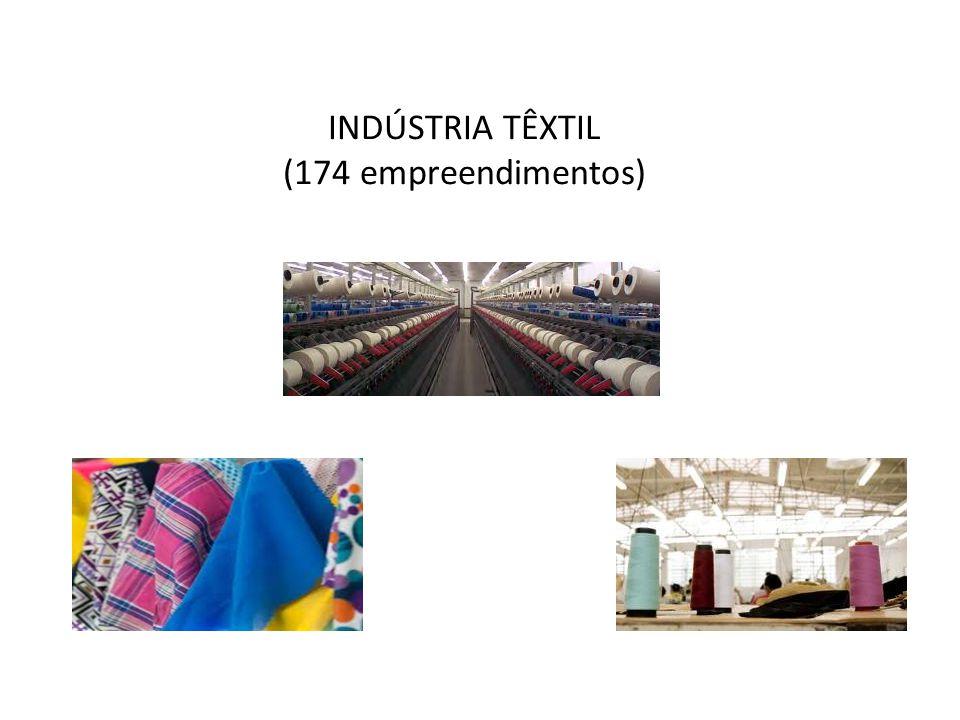 INDÚSTRIA TÊXTIL (174 empreendimentos)