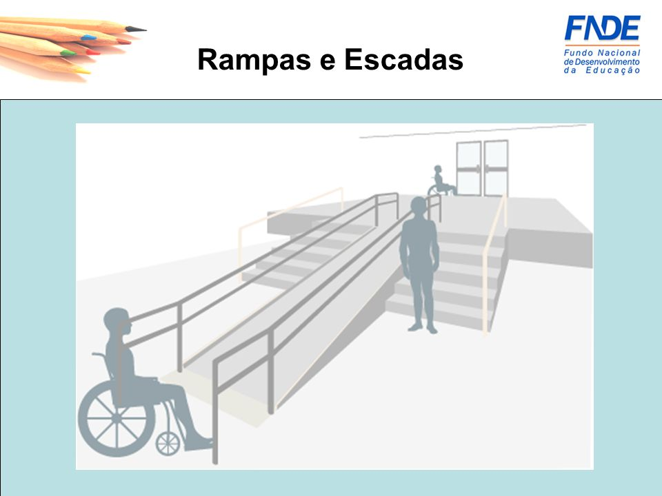 Portas - As portas, inclusive de elevadores, devem ter um vão livre mínimo de 0,80m e altura mínima de 2,10m.