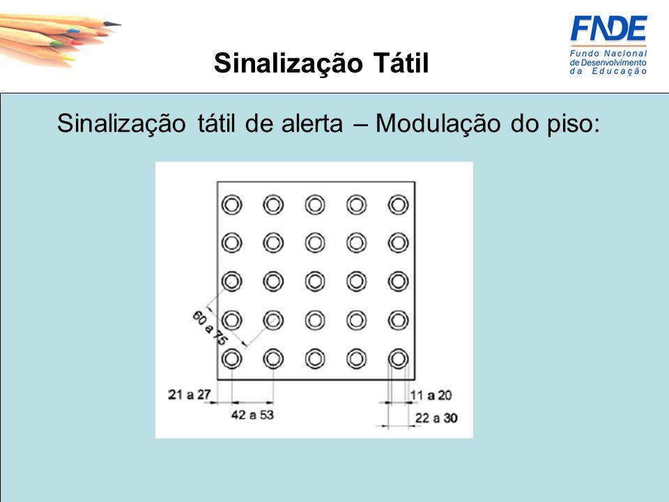 Sinalização Tátil Sinalização tátil de alerta – Modulação do piso: