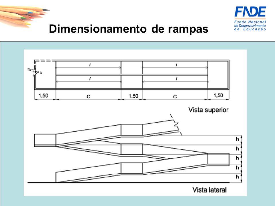 -Para inclinação entre 6,25% e 8,33% devem ser previstas áreas de descanso nos patamares, a cada 50m de percurso.
