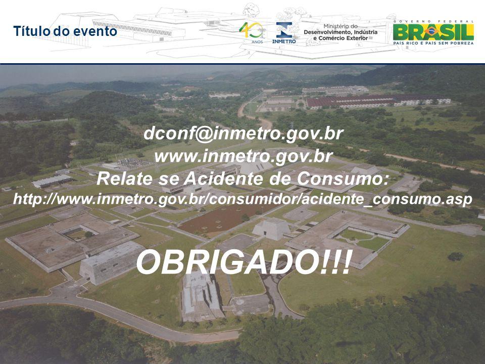 Título do evento OBRIGADO!!.