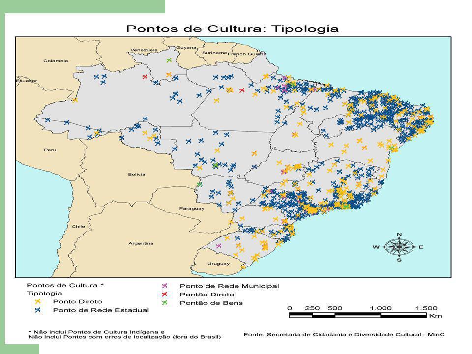 Números Gerais do Programa Cultura Viva Estado de GOIÁS Programa Cultura Viva - Investimento em Pontos, Pontões e Redes de Pontos de Cultura Região Centro-Oeste - Goiás (R$) - 2004-2015* (R$) AçãoNº de Convênios Nº de PONTOS Nº de PONTÕES Repasse MinC* Contrapartida* Valor Total dos Convênios* Valor a Pagar* Valor Pago Pontão3032.744.780,00692.160.003.436.940,00630.000,002.114.780,00 Ponto Direto13 01.956.683,00600.227,612.556.910,61594.043,501.362.639,50 Rede Municipal13003.600.000,001.800.000,005.400.000,001.200.000,002.400.000,00 Rede Estadual14004.900.000,002.400.000,007.300.000,004.900.000,00 Total geral1883313.201.463,005.492.387,6118.693.850,612.424.043,5010.777.419,50 * Refere-se ao período 2004-2015.