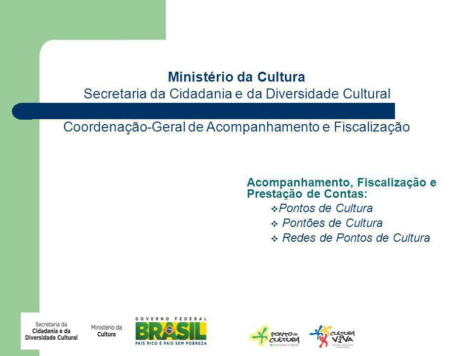 Ministério da Cultura Secretaria da Cidadania e da Diversidade Cultural Diretoria da Cidadania e da Diversidade Cultural Coordenação-Geral de Acompanh