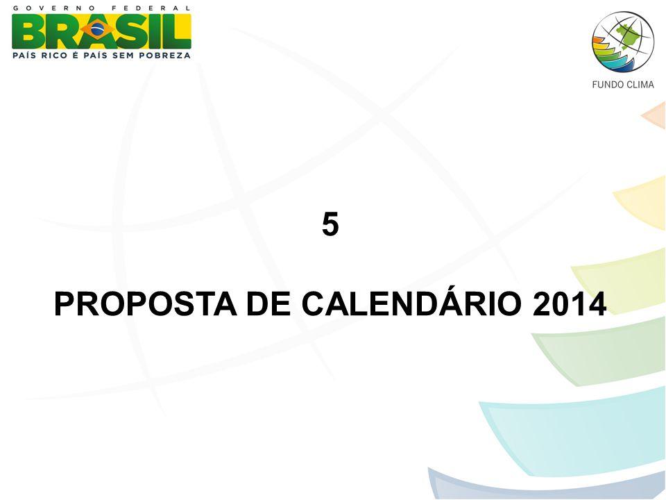 5 PROPOSTA DE CALENDÁRIO 2014