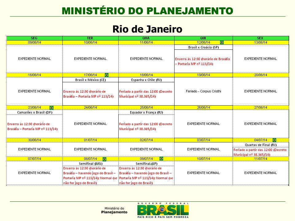 MINISTÉRIO DO PLANEJAMENTO Rio de Janeiro