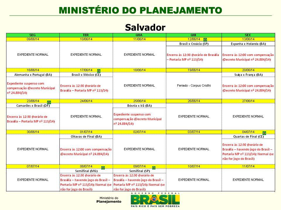 MINISTÉRIO DO PLANEJAMENTO Salvador