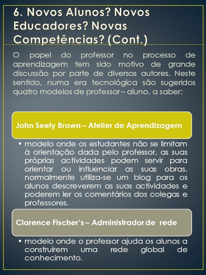 O papel do professor no processo de aprendizagem tem sido motivo de grande discussão por parte de diversos autores.
