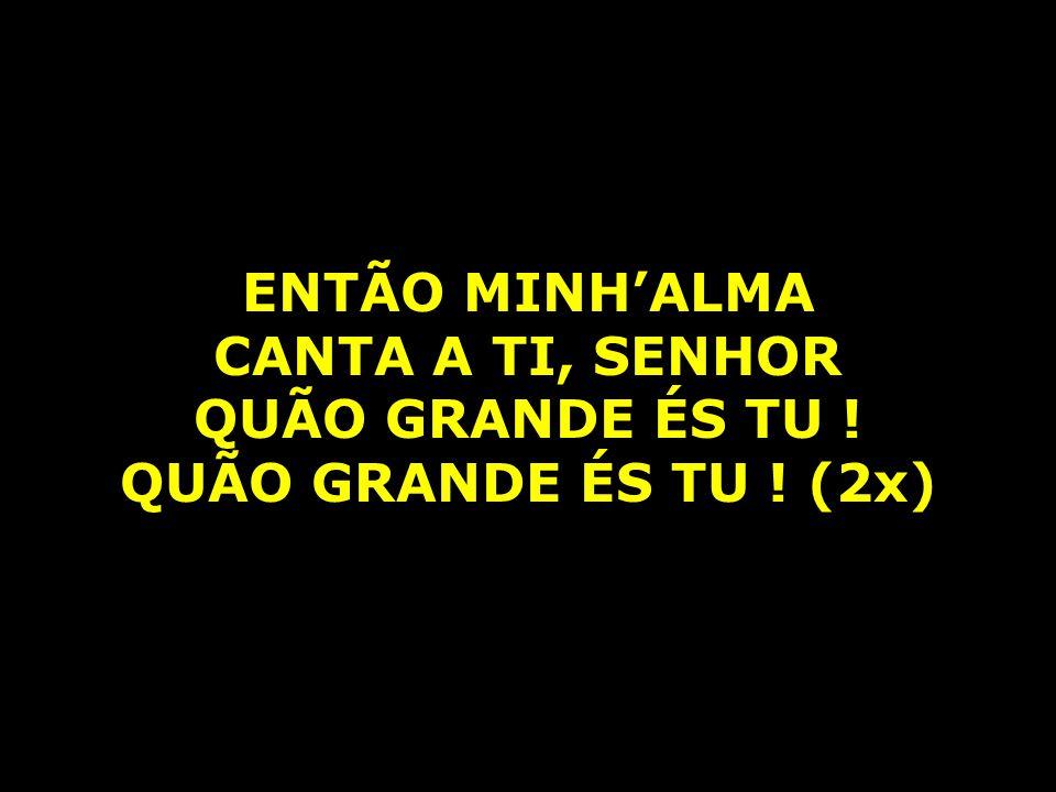 ENTÃO MINH'ALMA CANTA A TI, SENHOR QUÃO GRANDE ÉS TU ! QUÃO GRANDE ÉS TU ! (2x)