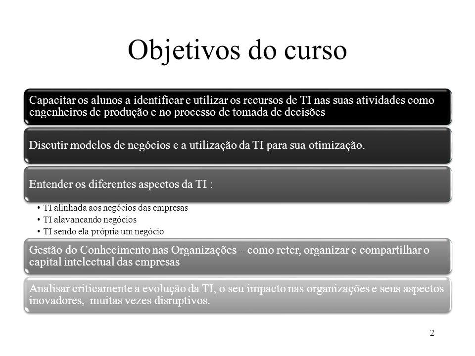Objetivos do curso 2