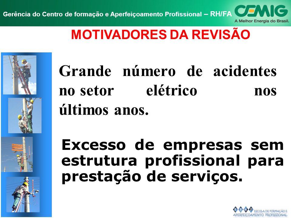 NR-10 SEGURANÇA EM INSTALAÇÕES E SERVIÇOS EM ELETRICIDADE Gerência do Centro de formação e Aperfeiçoamento Profissional – RH/FA TÍTULO 10.3 - SEGURANÇA EM PROJETOS.