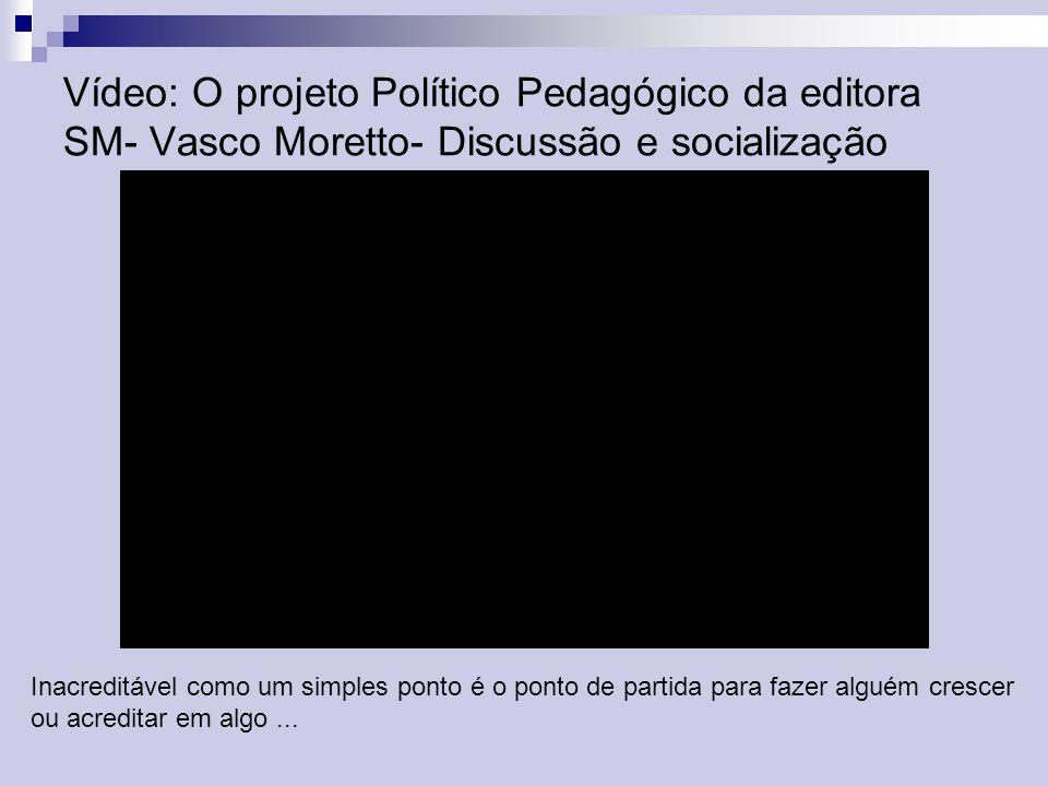 Vídeo: O projeto Político Pedagógico da editora SM- Vasco Moretto- Discussão e socialização Inacreditável como um simples ponto é o ponto de partida p