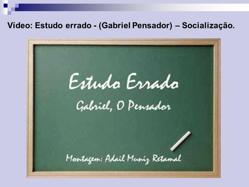 Vídeo: Estudo errado - (Gabriel Pensador) – Socialização.