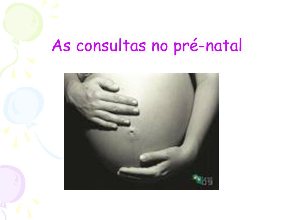 As consultas no pré-natal