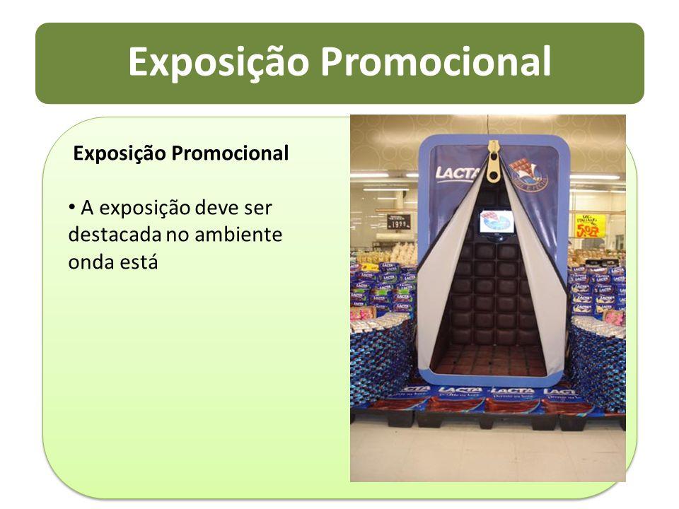 Exposição Promocional A exposição deve ser destacada no ambiente onda está Exposição Promocional A exposição deve ser destacada no ambiente onda está