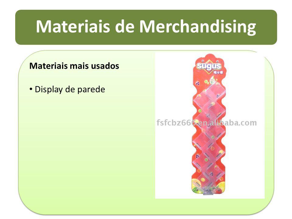 Materiais de Merchandising Materiais mais usados Display de parede Materiais mais usados Display de parede