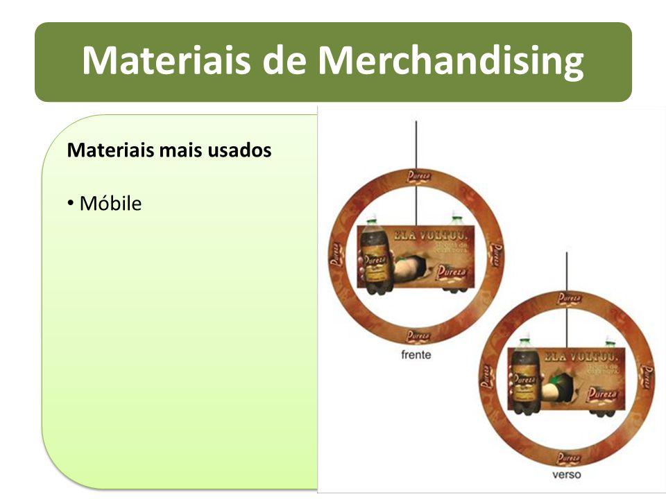 Materiais de Merchandising Materiais mais usados Móbile Materiais mais usados Móbile