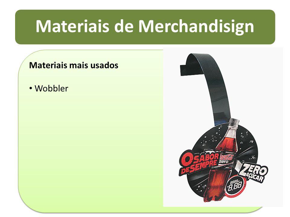 Materiais de Merchandisign Materiais mais usados Wobbler Materiais mais usados Wobbler