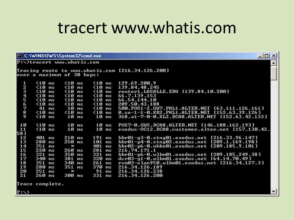 tracert www.whatis.com