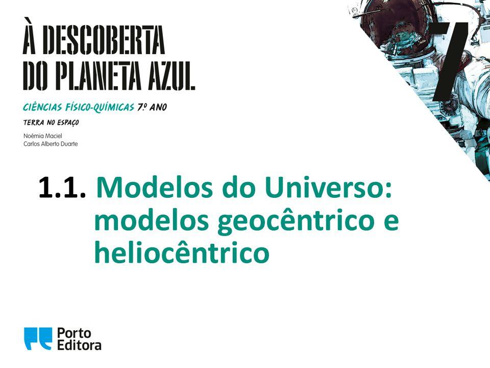 Modelos do Universo Desde a antiguidade, o ser humano sentiu necessidade de representar o Universo.