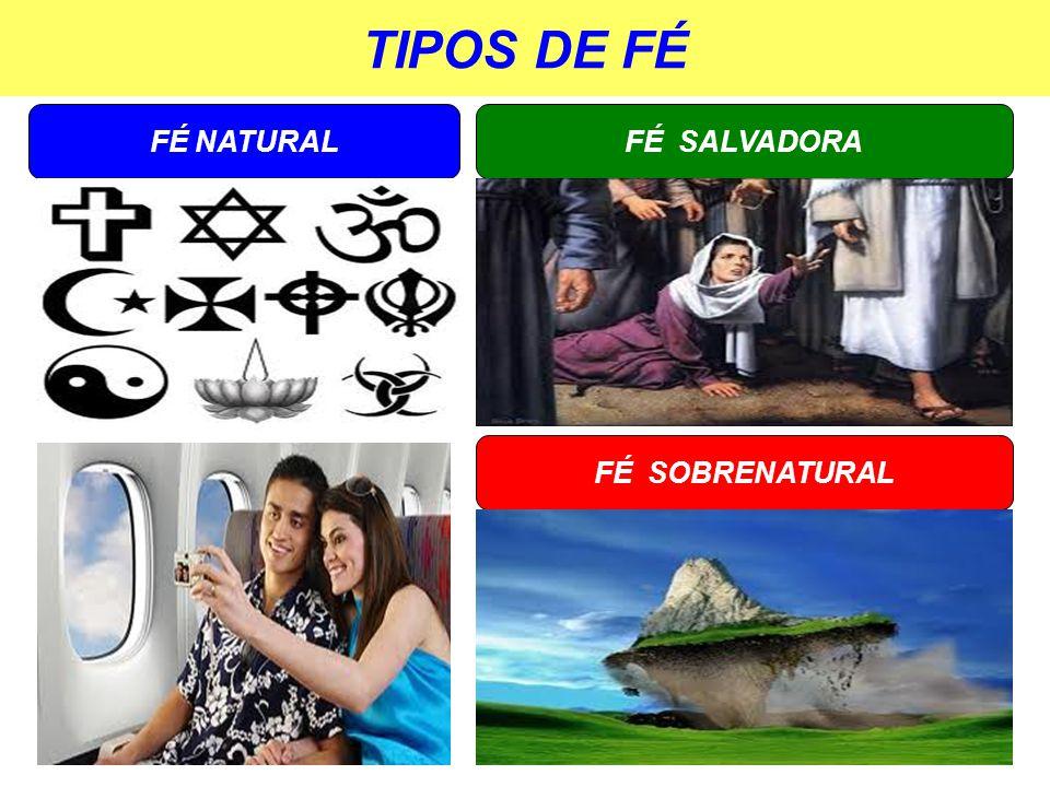 TIPOS DE FÉ FÉ NATURAL FÉ SOBRENATURAL FÉ SALVADORA