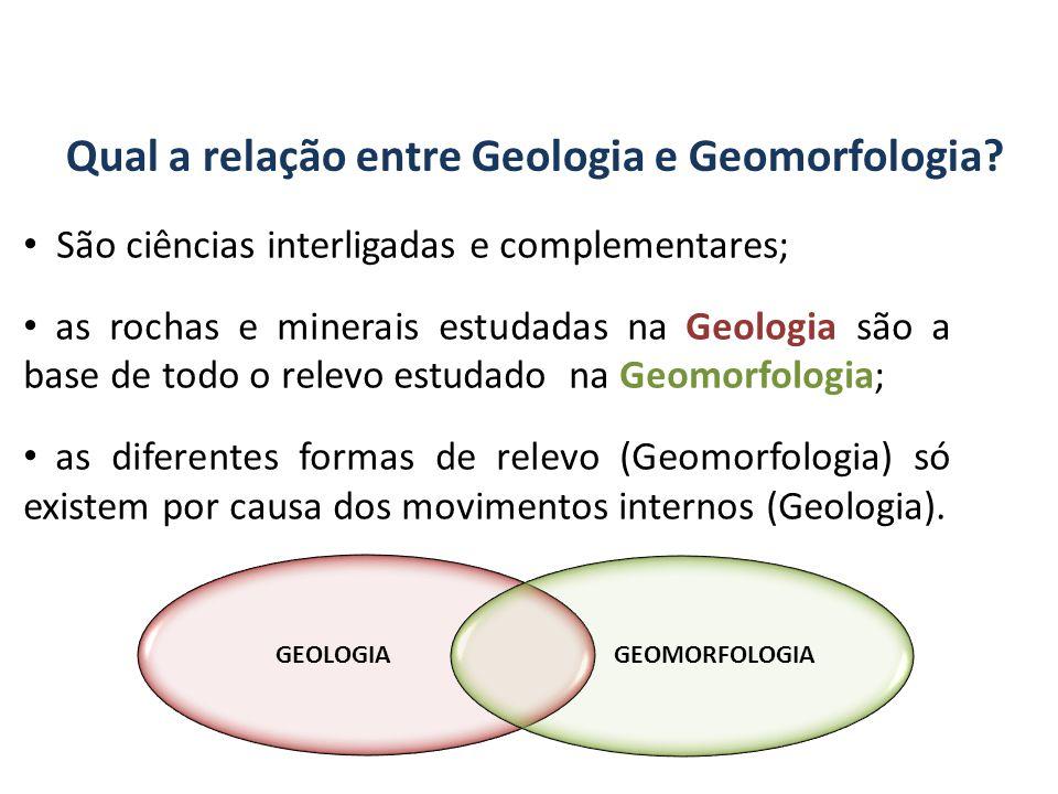 Qual a relação entre Geologia e Geomorfologia.