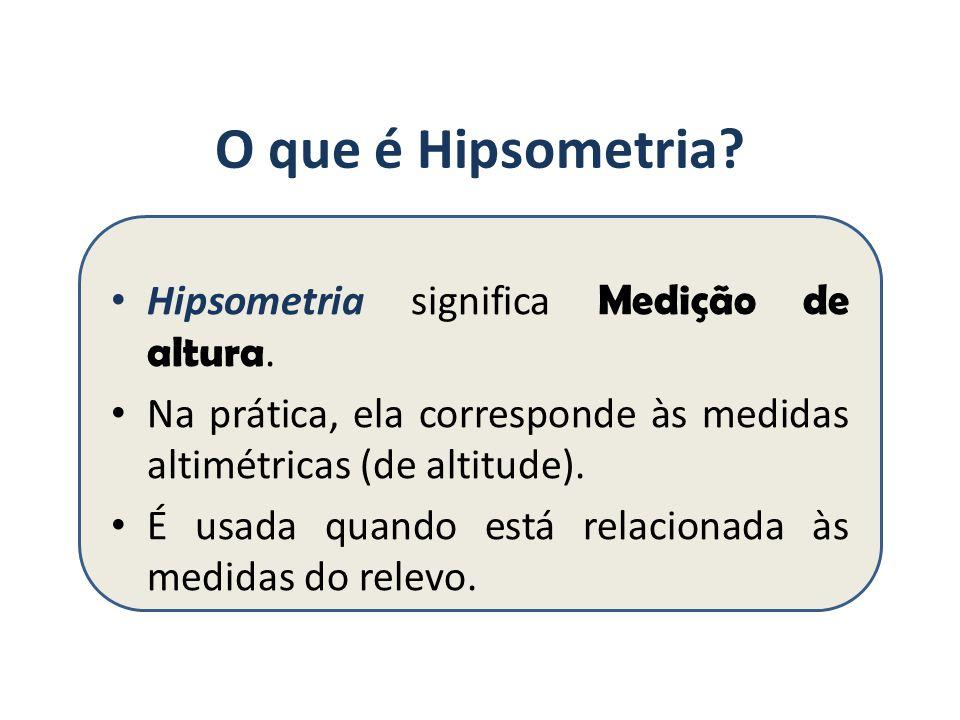 O que é Hipsometria.Hipsometria significa Medição de altura.