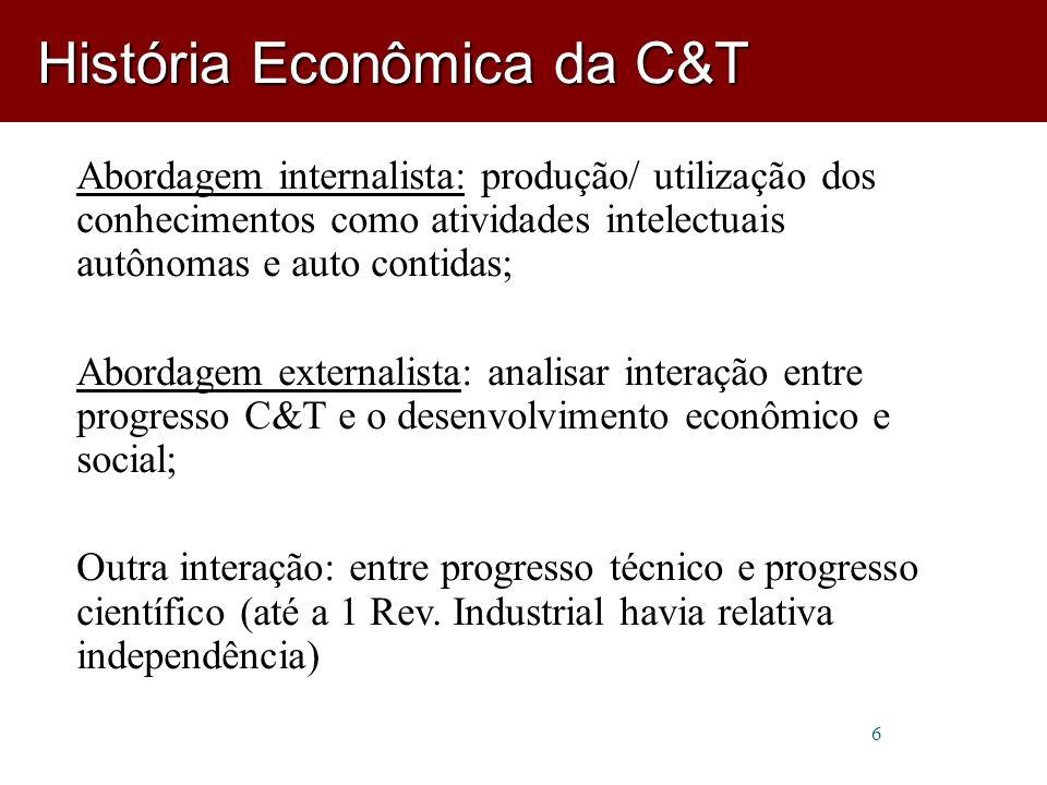 Para Marx e Engels, por exemplo, o imenso dinamismo tecnológico da era moderna esteve ligado à emergência histórica do capitalismo.