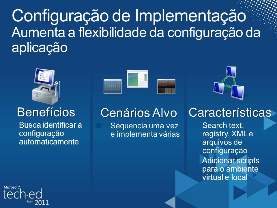 Benefícios Busca identificar a configuração automaticamente