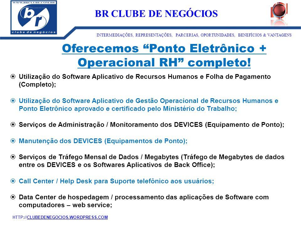 """Oferecemos """"Ponto Eletrônico + Operacional RH"""" completo!  Utilização do Software Aplicativo de Recursos Humanos e Folha de Pagamento (Completo);  Ut"""