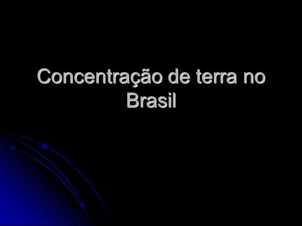 A agricultura brasileira De 1500 a 1822, todas as terras brasileiras pertenciam à Coroa portuguesa.