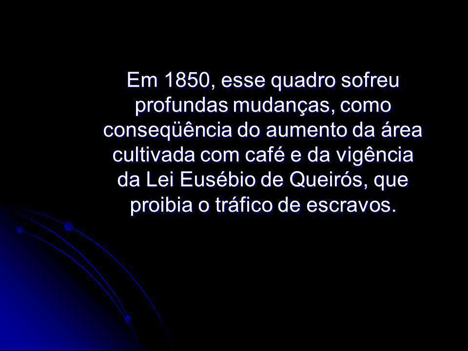 Desse ano em diante, a mão- de-obra que entrava no Brasil para trabalhar nas lavouras passou a ser constituída por imigrantes livres europeus, atraídos pela propaganda do governo brasileiro.
