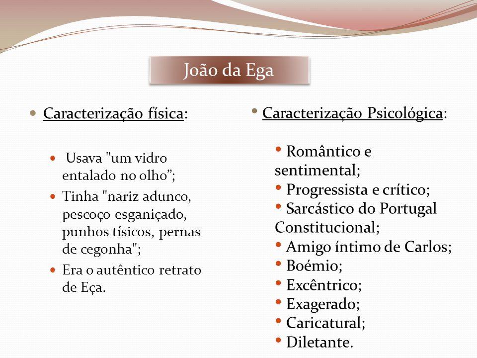 Dâmaso Salcede Caracterização física: Baixo; Gordo; Frisado como um noivo de província .